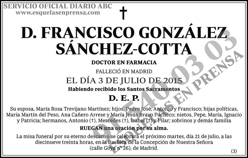 Francisco González Sánchez-Cotta